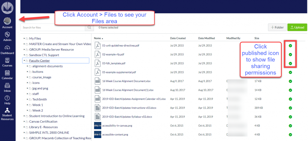 File sharing permissions